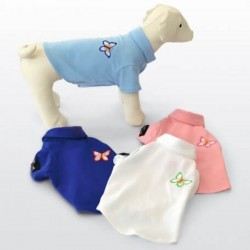 DOG LINE MARIPOSA Maglietta per Cane tg. M/25 cm Azzurra