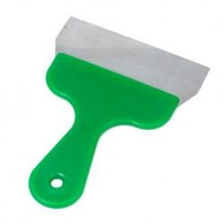 Raschietto Spatola con manico in plastica verde per Colombi Da 16 cm
