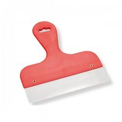 Spatola manico rosso diritto per Colombi da 13 cm
