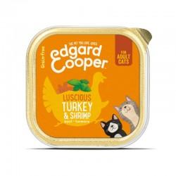 Edgard & Cooper Cibo umido per Gatti grain-free da 85 gr - Turkey & Shrimp