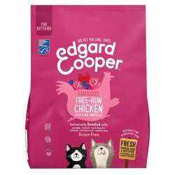 Edgard & Cooper Chicken, Duck e MSC White Fish Crocchette Grain-Free per Gattini da 300 gr con Pollo Anatra e Pesce Bianco