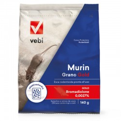 Vebi Murin Grano Gold Esca Rodenticida in Grano Pronta All'uso da 140 gr