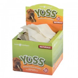 YOSS Sfoglia in Pelle Naturale 10x10 cm Snack per cane