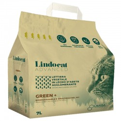 LINDOCAT ADVANCED Green Plus Lettiera Vegetale in Legno d'Abete Agglomerante per Gatto da 7 litri