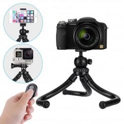 Supporto Treppiede Flessibile Octopus con Telecomando per Smartphone e Fotocamenra