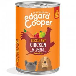 Edgard & Cooper Chicken & Turkey Cibo umido Grain-free per Cane da 400 gr con Pollo e Tacchino