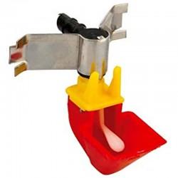 Tabec Abbeveratoio Automatico per Gallinacei con apertura a spinta, vaschetta 3 cm