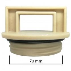 Tappo a vite Ø esterno 70mm per abbeveratoio o simili