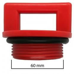 Tappo a vite Ø esterno 60mm per abbeveratoio o simili