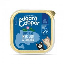 Edgard & Cooper MSC Cod & Chicken Cibo umido per Gatti grain-free da 85 gr con Merluzzo e Pollo