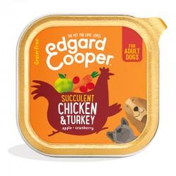 Edgard & Cooper Chicken & Turkey Cibo umido Grain-free per Cane da 150 gr con Pollo e Tacchino