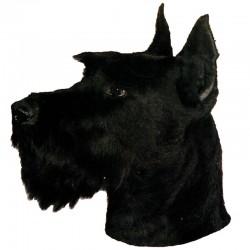 Vetrofania adesiva con cane Schnauzer 2 adesivi da 15x15 cm