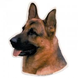 Vetrofania adesiva con cane Pastore Tedesco 2 adesivi da 15x15 cm