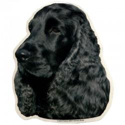 Vetrofania adesiva con cane Cocker 2 adesivi da 15x15 cm