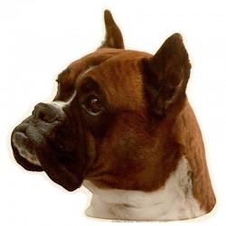 Vetrofania adesiva con cane Boxer 2 adesivi da 15x15 cm