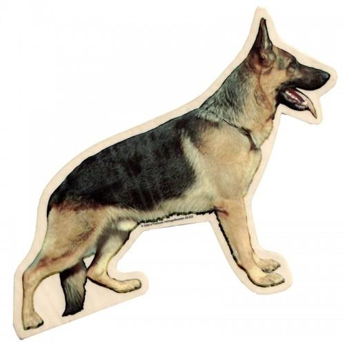 Vetrofania adesiva con cane Pastore Tedesco intero - 2 adesivi da 15x15 cm