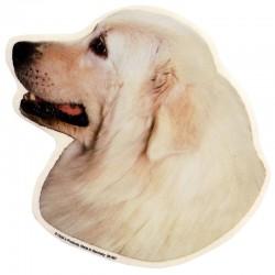 Vetrofania adesiva con cane Pastore Maremmano 2 adesivi da 15x15 cm