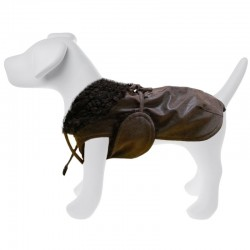 Rich Dog Tecno Cappottino in ecopelle per Cane Tg. 21 cm