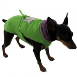 Rich Dog Police Rich Cappottino impermeabile in Pelliccia e Nylon per Cane Tg. 21 cm