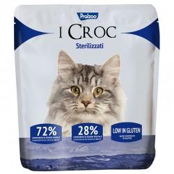Pralzoo I Croc Sterilizzati Ciibo Secco per Gatto da 400g con 72% di componenti di origine animale