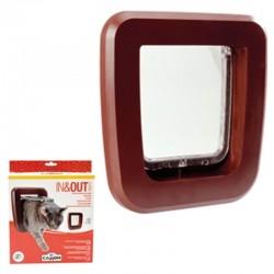 Camon In&out Classic Porta Basculante per Gatti 155x150 mm Marrone