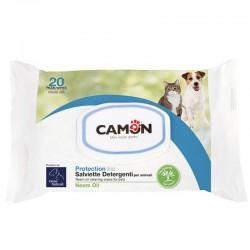 Camon Salviette con Olio di Neem per Cane e Gatto 30x20 cm Conf. da 20 pz