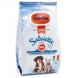 CAMON Salviette Fragranza Ambra per Cane e Gatto 30x17 cm Conf. da 100 pz