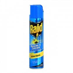 Raid Mosche e Zanzare Azione Rapida Spray da 400 ml