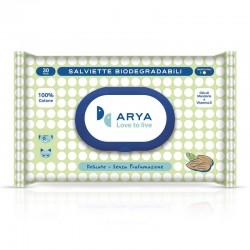 Arya Salviette Neutre Senza Profumo Biodegradabili per Cane e Gatto 30x20 cm Conf. da 30 pz