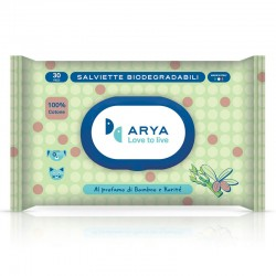 Arya Salviette al Bamboo e Karité Biodegradabili per Cane e Gatto 30x20 cm Conf. da 30 pz