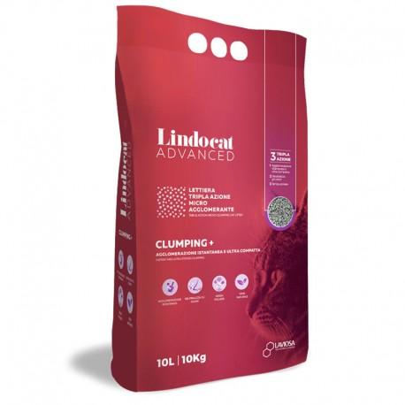 LINDOCAT ADVANCED Clumping Plus Lettiera Micro Agglomerante Bianca per Gatto da 10 litri bentonite
