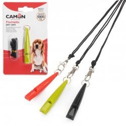 Camon Fischietto da Addestramento per Cani Con Laccetto Colori Assortiti