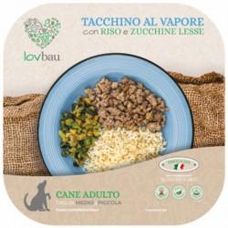 Lovbau Tacchino Al VaporeCon Riso E Zucchine Lesse Cibo Surgelato per Cane da 160 g