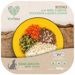 Lovbau Bocconcini Di SuinoCon Riso, Carote, Zucchine E Gusci D'uovo Cibo Surgelato per Cane da 160 g