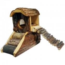 Okay Pet Casetta in Legno con Rampa per Roditori 17x8x16h cm