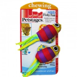 Petstages Fishy Fun Gioco Per Gatto in Tessuto con Catnip 2 Pesciolini da 10 cm