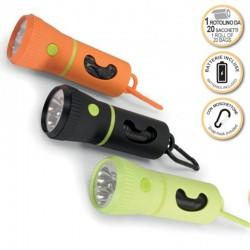 Camon Porta Sacchetti Igienici per Cane con Torcia e LED + Rotolo omaggio