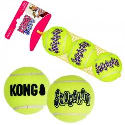 Kong SqueakAir Balls Tris Palle da Tennis Tg.M per Cani 3 pz Ø 6.5 cm