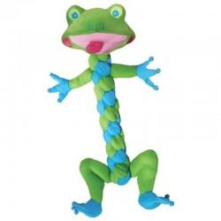 Kong Braidz Frog Medium Gioco Peluches Stoffa Per Cani da 30 cm