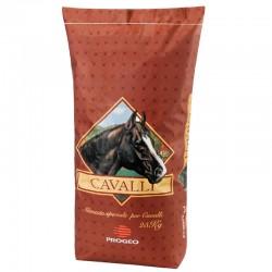 Progeo CAVALLI TECNO HORSE 12 Pellet + Fiocco Mangime completo per cavalli da 25 kg