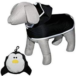 CANI AMICI Impermeabile Pinguino per Cani tg. 30 NeroTascabile