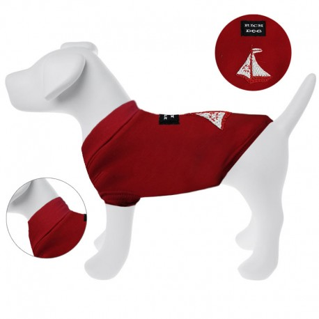 Rich Dog Maglioncino Per Cane Sail Tg. 18 cm Rosso In Pile e Neoprene