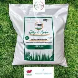 Ferti Go NPK 18-7-9 Concime organo-minerale per la nutrizione del tappeto erboso 5 kg x 150mq Primavera Autunno