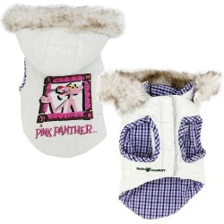 Farm Company Pink Panther Piumino Per Cane Tg. 19 cm Bianco