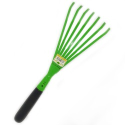 SCOPETTA THUGA denti piatti in  acciaio colore verde
