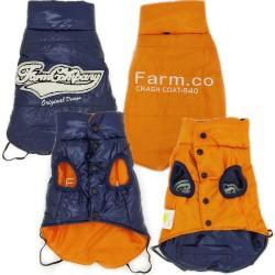 Farm Company Twice Piumino per Cane Tg. 35 cm Double Face Blu Arancione