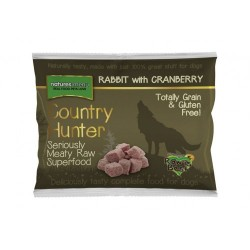 NATURAL MENU' COUNTRY HUNTER rabbit - CIBO SURGELATO PER CANI gusto CONIGLIO con MIRTILLI ROSSI da 1Kg