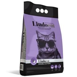 LINDOCAT DOUBLE ACTION Lettiera per Gatto Micro Agglomerante Bianca da 10 litri Con Olio di Argan E Lavanda