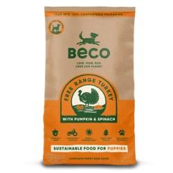 Beco Food - Cibo secco per cane di piccola taglia e cucciolo gusto Tacchino da 2 kg