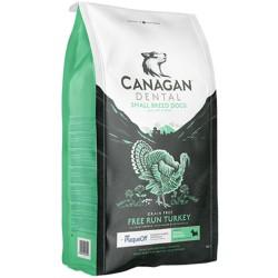 Canagan Free Run Turkey Dental Small 2 kg Cibo Secco Per Cani Di Piccola Taglia con Tacchino Anti Placca